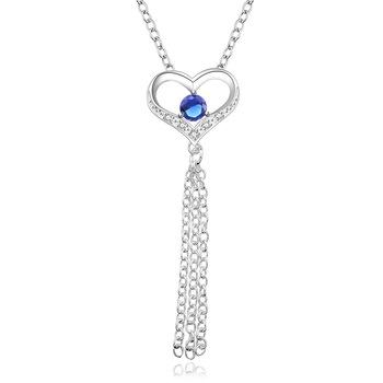 Colar-de-borla-fácil-usando-coração-prata-jóias-de-prata-colar-para-o-a